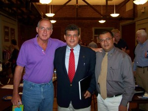 Tom Brown, Good Government Group member and descendent of U.S. President John Adams with Ariel Teran and Anibal Rosales